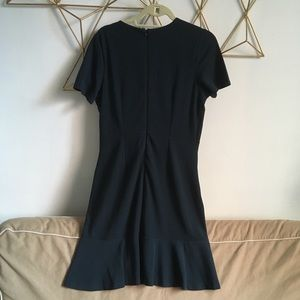 Banana Republic short sleeve dress, flutter hem